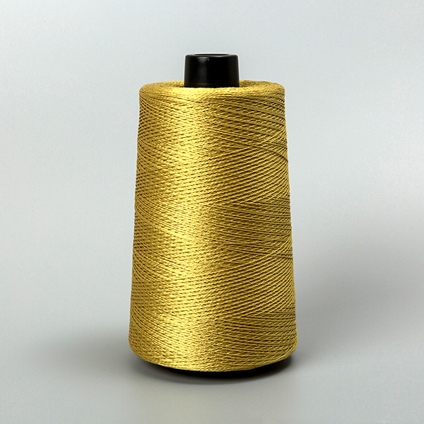 Golden aramid sewing thread