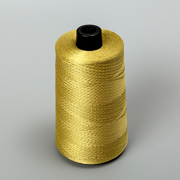 Golden aramid and twisted silk