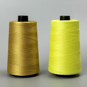 Aramid filament sewing thread