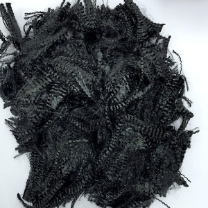 Black aramid staple fiber