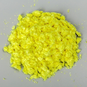 Yellow aramid chopped strand