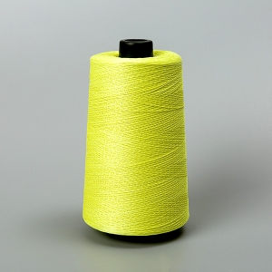Yellow aramid sewing thread